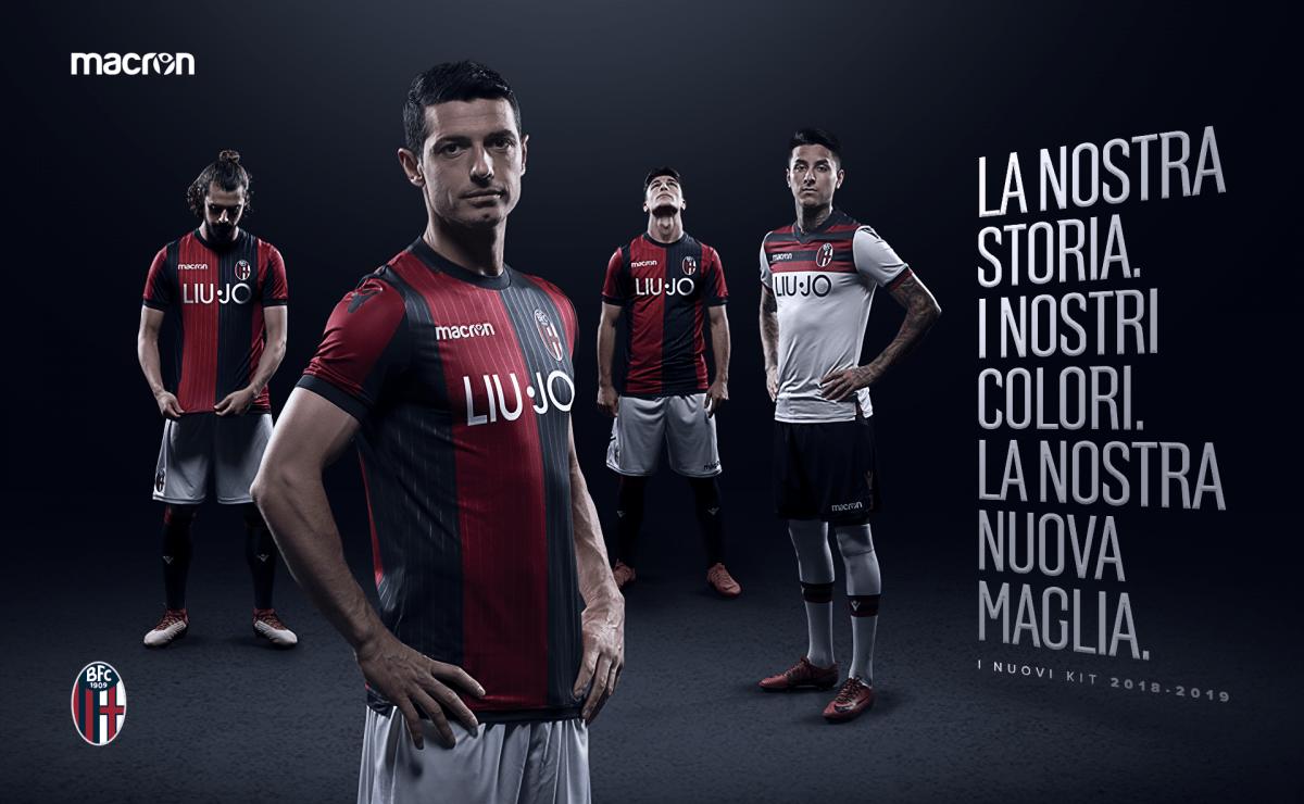 ボローニャが2018-2019 シーズンの新ユニフォームを発表。さりげなくエンブレムも変更へ
