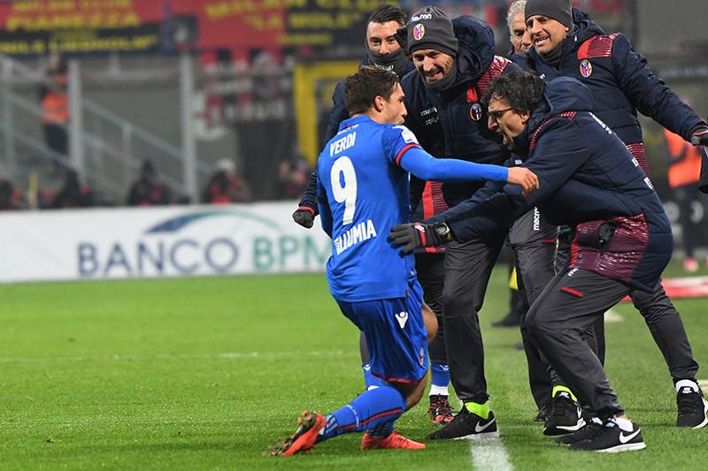 本田が居たミランに惜敗 © Bologna FC