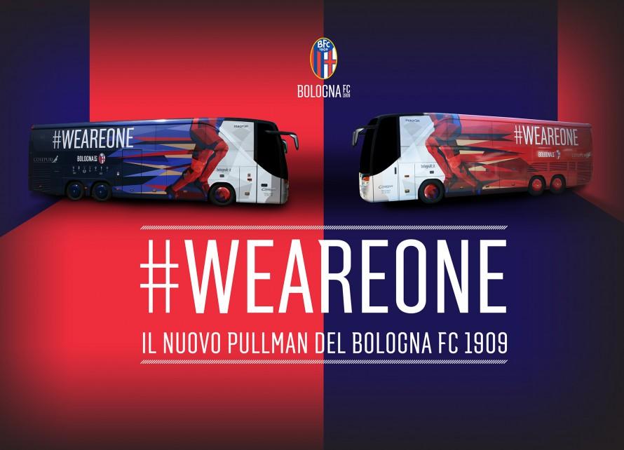 2015-2016シーズン、ボローニャのチームバス