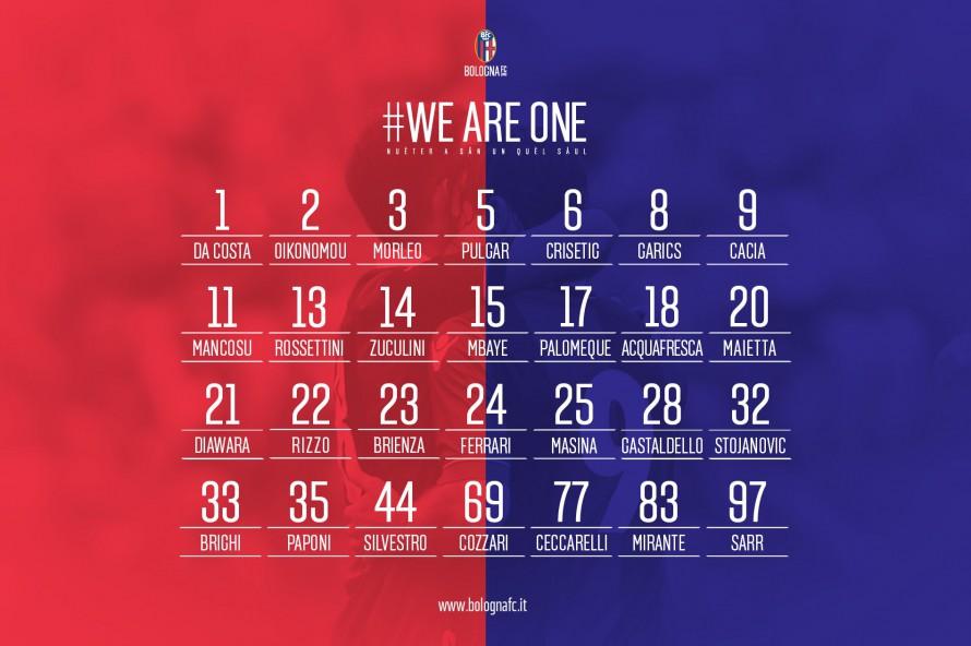 ボローニャ2015-2016シーズンの背番号を発表